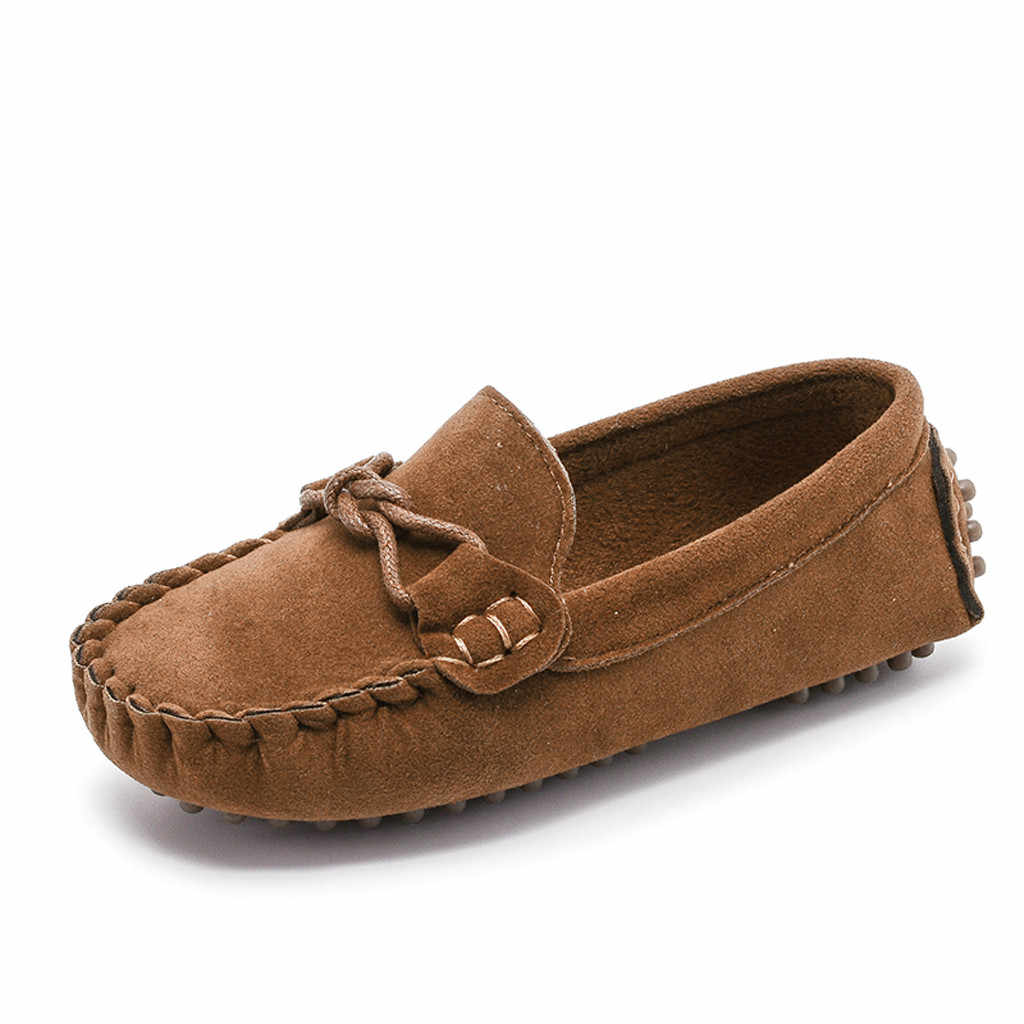 SAGACE เด็ก Loafers สีทึบด้านล่างนุ่ม Breathable Casual รองเท้า SLIP-ON Bowknot สบายกีฬาเจ้าหญิงรองเท้าแตะพฤษภาคม 23