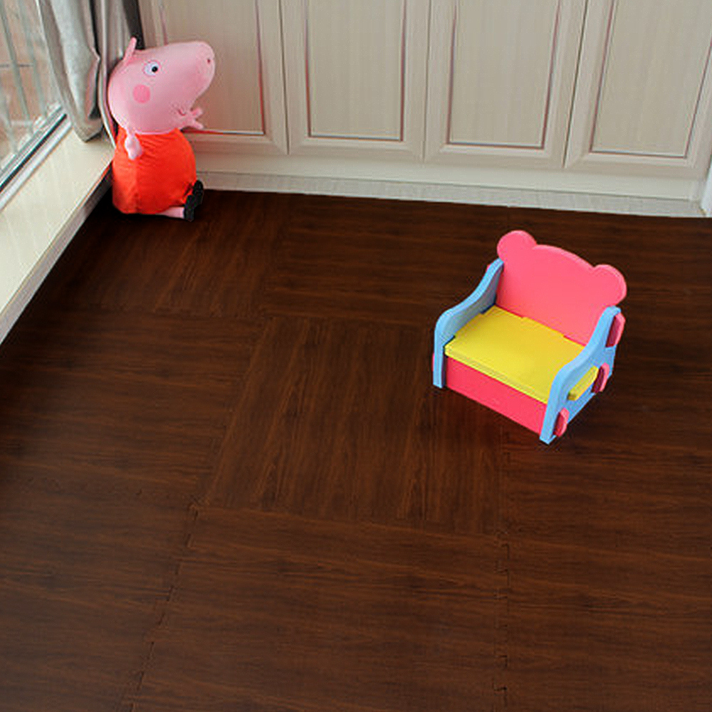 Aliexpress Buy Yazi 9PCS New Puzzle Mat Wood Print Color EVA Grain Pad Kitchen Foam Cushion Pieced Carpet Home Decoration 30X30cm From Reliable