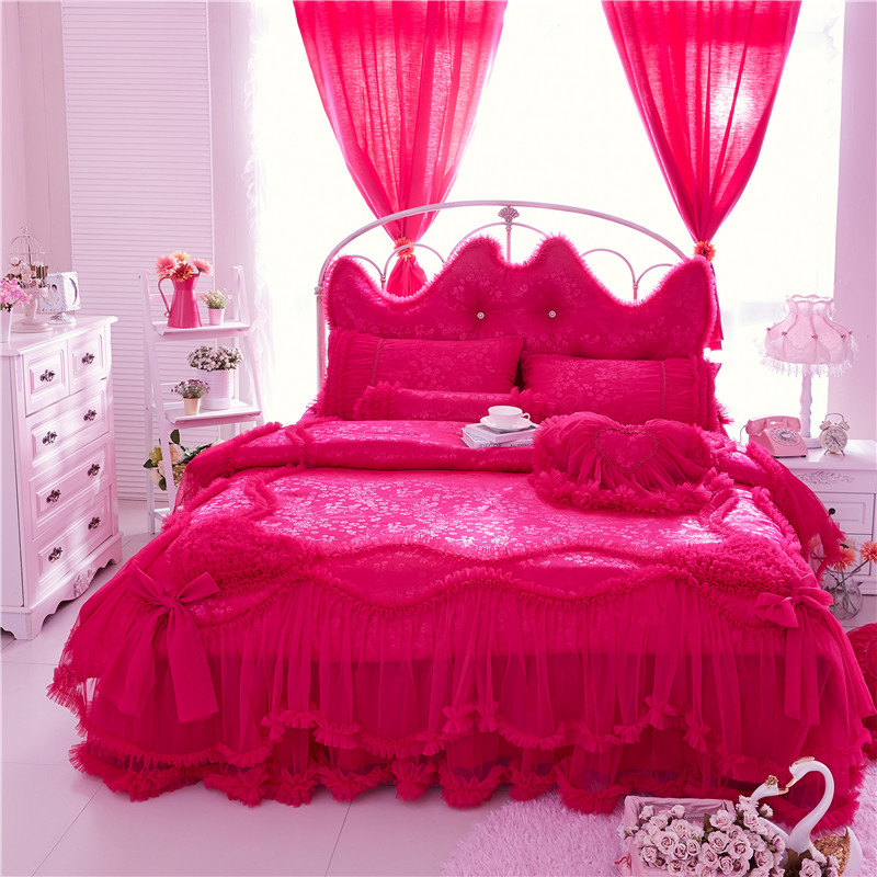 2017 Egypt cotton satin luxury Jacquard Bedding Set Twin Queen King size 3 4 7Pcs Duvet