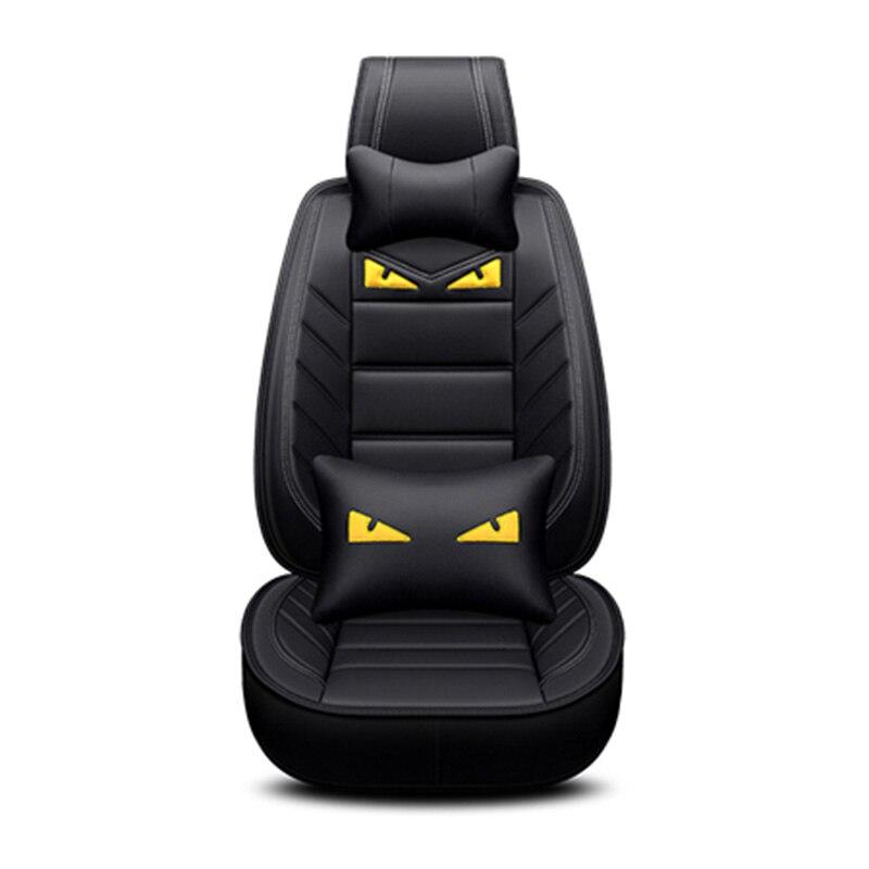 Luxury PU Leather Cute cartoon Auto Universal car seat covers for BMW all model 520 525 320 f10 f20 x1 x3 x5 x6 x4 e36 e46