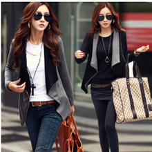 Fast Shipping Feminino 2018 New Fashion Spring Autumn Korean Style Slim Turn -Down Collar Side Zipper Jacket Women Coat