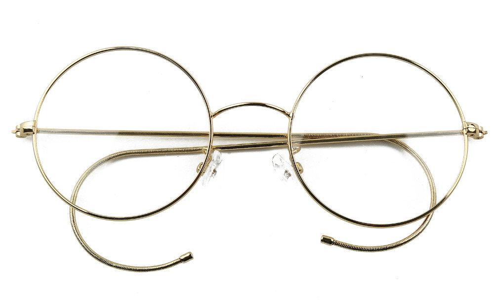 Agstum 49mm Antique Vintage Round Glasses Wire Rim Eyeglasses Frame ...