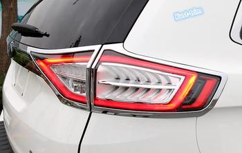 Para Ford Edge 2015-2017 Cauda ABS Chrome Luz Traseira Tampa Da Lâmpada Guarnição 4 PCS