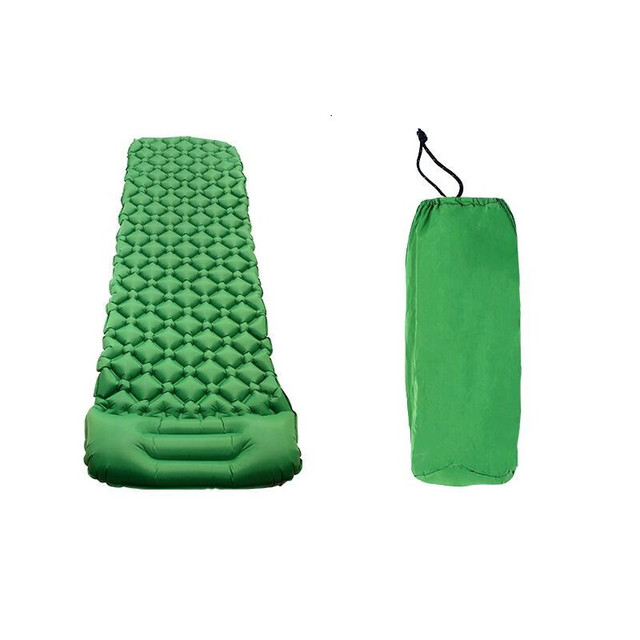 Outdoor Ultralight Camping Mat TPU Inflatable Mattress Air Mattress Sleeping Pad Airbed Inflatable Bed Folding Bed With Pillow