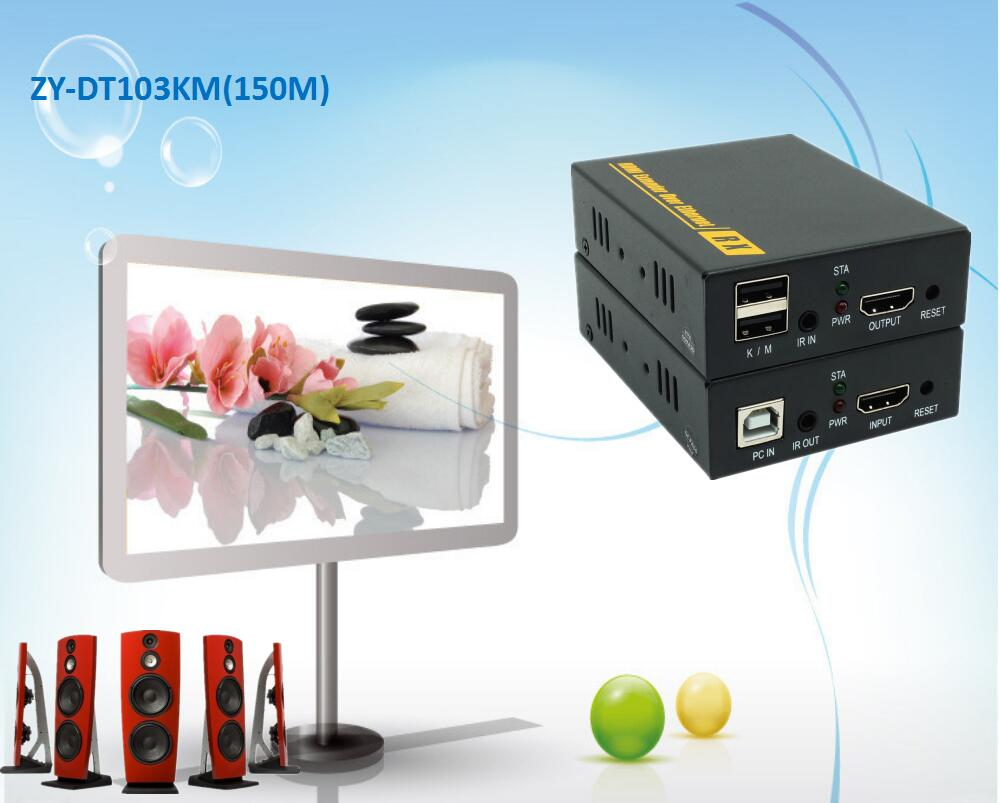 Super Quality 500ft USB IR HDMI Signal Over IP Network KVM Extender 1080P USB Keyboard Mouse