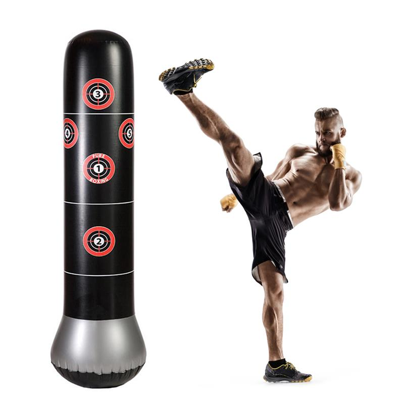 Us 20 88 23 Off Runacc Fitness Punching Bags Freestanding Boxing Target Bag Inflatable Tower Perfect For Children And S In
