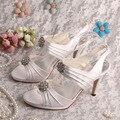 Wedopus Sandálias Brancas de Noiva Salto Baixo Sapatos de Plataforma de Verão 9 CM Dropship