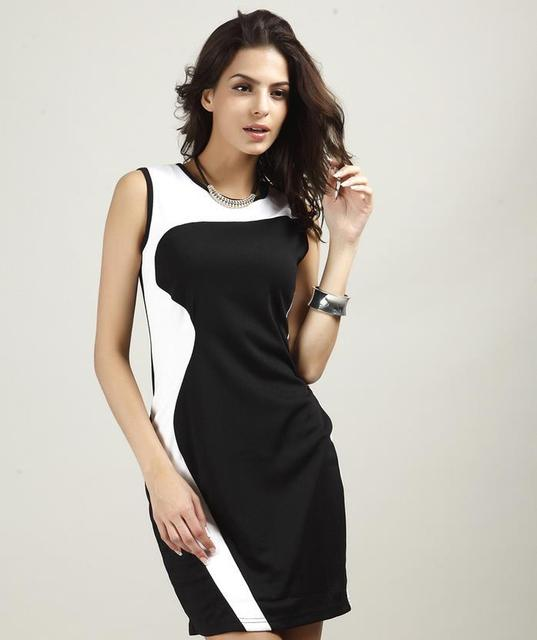 Combinaciones de vestido negro con blanco