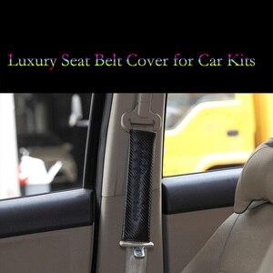Image 2 - العالمي مقعد السيارة حزام غطاء ألياف الكربون منصات لسيارات BMW هوندا أودي بنز مازدا نيسان تويوتا فيوس لكزس فولفو اكسسوارات السيارات