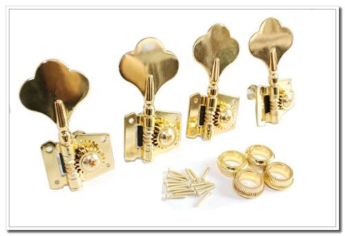 Gold Bass Guitar 4R Machine Heads Knobs Tuners tuning pegs 4r electric bass guitar tuners machine heads bass guitar tuning pegs tuning keys buttons chrome guitar parts