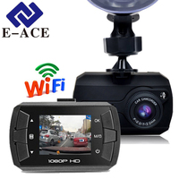 E-ACE 1.5 Inch Hidden Mini Wifi Car Dvr Full HD 1080 P Car Camera Mirror Rearview Recorder Video Dash Camera Automovil Dash Cam