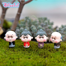 Old Granny Grandparents Figurines Wedding Doll Miniatures Couple home Garden Decoration Girl toy DIY accessories gift