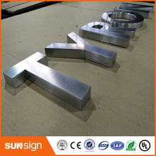 Brushed stainless steel flat letters cutting letters