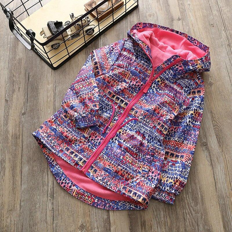 New Girls Long Hooded Warm . With Velvet Leisure Trench Coat Waterproof Windproof Jacket Tops