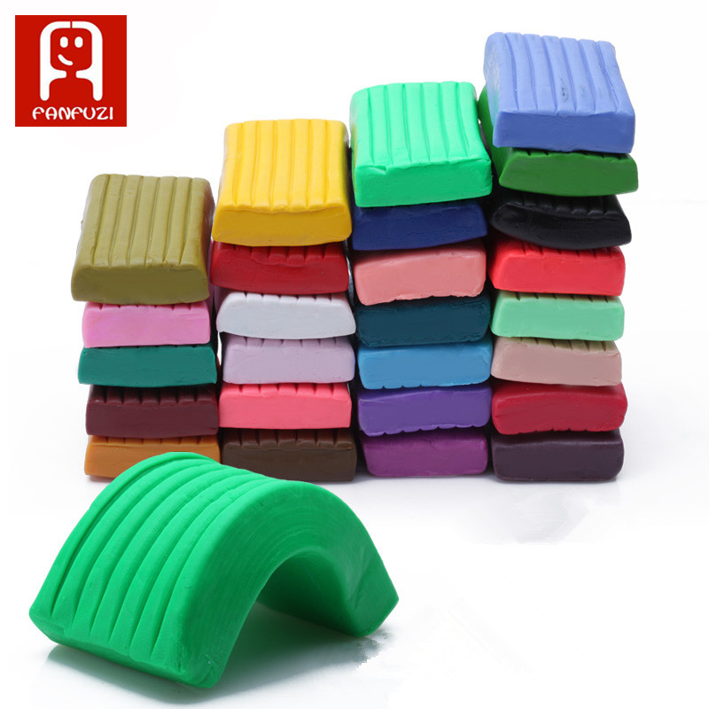 24 Colors DIY Handmade Clay Modeling Clay /LOT polymer clay stationery, clay Play dough Kids Toy With Free Three-piece Tool ...