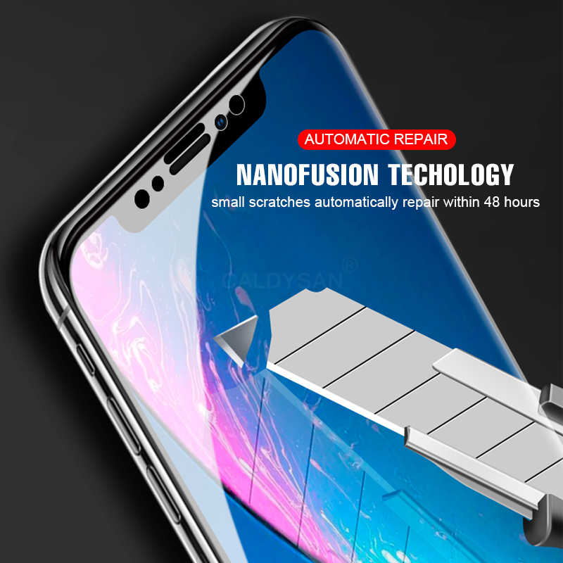 new style 5e245 ad66b Screen Hydrogel Film For IPhone X 6 6s 7 8 Plus XR XS Max Full Protective  Film For IPhone 6 6s 8 7 Plus XR XS Max Protector Film