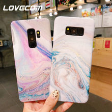 LOVECOM Hot Matte Marble Case For Huawei P20 Pro Honor V9 V10 NOVA 3e 2s For Samsung S8 9 Plus Note 8 9 Hard PC Phone Back Cover(China)