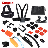 VOOR Gopro Accessoires Set Helm Harnas Borst Riem Hoofd Mount Strap Gaan pro hero3 Hero4 Hero2 2 3 3 + 4 Sj4000 Black Edition Kit