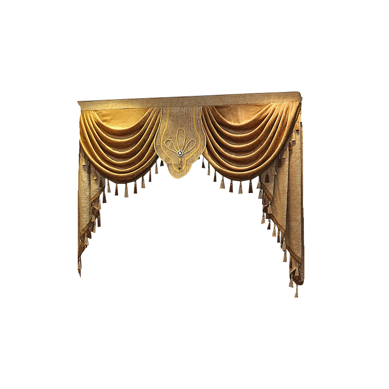 Luxury Europe Embroidered Window Valance Curtains For Living Room Window Curtains Blackout For Bedroom Kitchen Home Decor