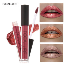 FOCALLURE metal matte liquid lipstick waterproof  Liquified Matte lipgloss 1pcs lip makeup