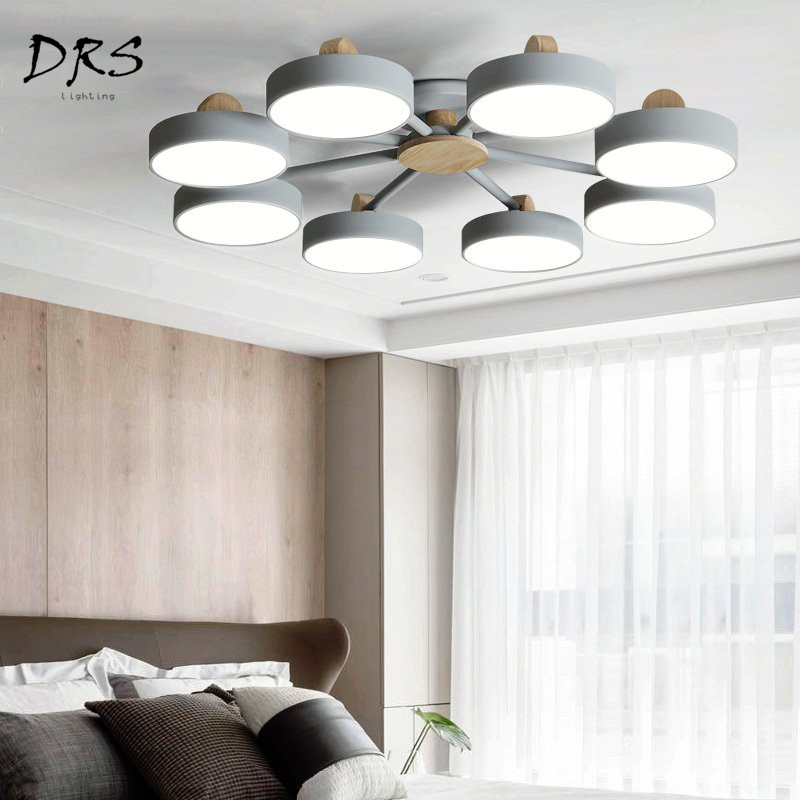 Nordic Designer Chandelier Ceiling Lamp Simple Modern Living Room LED Ceiling Lights Suspension Luminaire Lamparas Fixtures