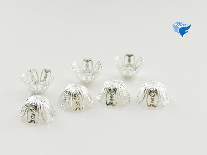 аксессуар 8 * 17 мм 200 шт / мешок металл серебро цветок корзина шапки своими руками для ювелирные изделия делает
