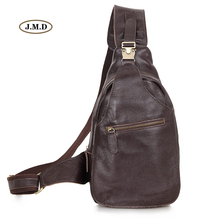 J.M.D New Excellent Leather Unique Mens Cassic Style Chest Bag High Quality Black Sling Small Messenger 2467Q