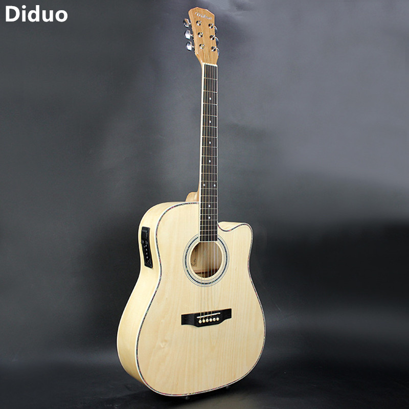 Diduo Hot S 41 Inch Folk Guitar Acoustic Guitar Rosewood Fingerboard Basswood 6 Strings Guitarra With EQ Musical Instruments diduo 40 inch 41 acoustic guitar beginner entry student male and female instrument wound guitarra