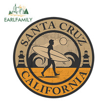 Earl family 13 cm x 13 cm Car Styling Santa Cruz California winylu naklejki iPad laptopa samochód Surf Cali stany zjednoczone wodoodporna naklejki samochodowe(China)
