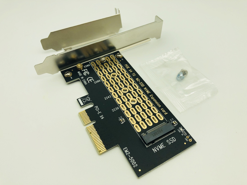 PCI-Express PCI-E 3.0 X4 To M.2 NVMe M Key Interface Converter Adapter Card M2 NVMe PCIE SSD Riser Card For 2230 2242 2260 2280