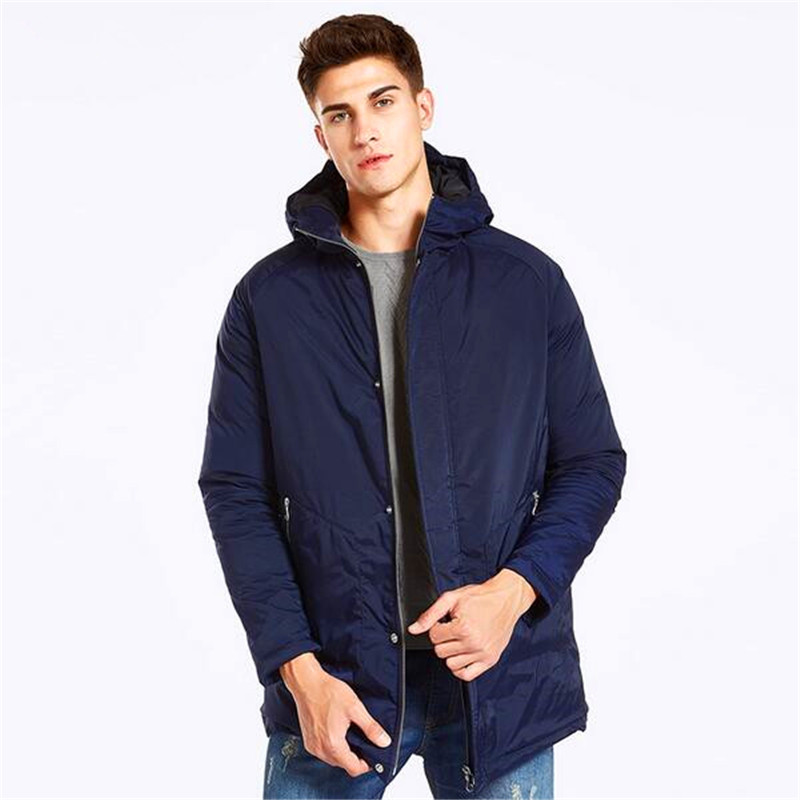 Free Shipping 2017 New Markless Men Long Winter Coats Brand Clothing Casual Hooded Cotton Jackets Warm Outwear