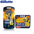 Original Gillette Fusion Proshield Flexball Shaver Shaving Razor Blades 1 Handle + 5 Blade For Men Shave Blade