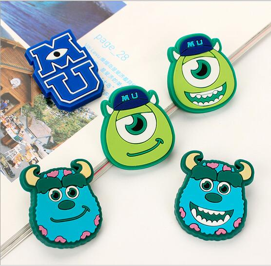 Creative cartoon PVC badges Childrens brooch beautiful safety pins Monsters University series badges