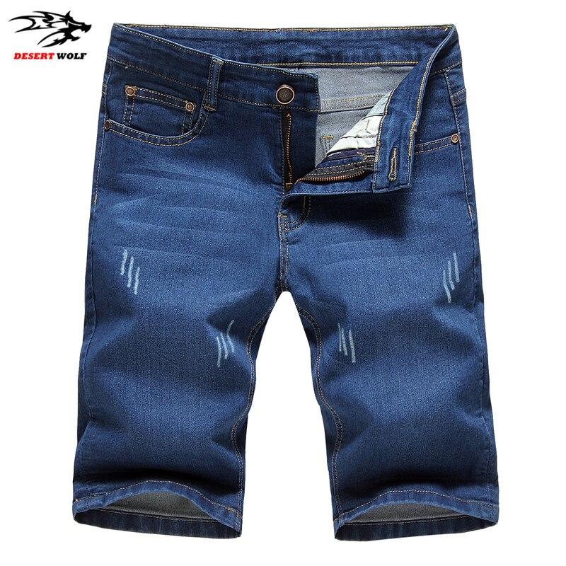 Top Promotion été 2016 nouvelle mode casual hommes Jeans Shorts haute qualité casual mens denim Shorts 2 couleurs Shorts grande taille 38