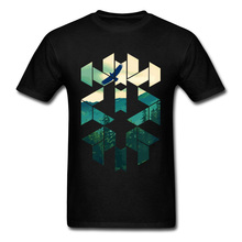 Vintage geométricas águilas cielo excursionistas camisetas de alta calidad cómodas Tops y camisetas de vacaciones camiseta de los hombres nueva camiseta agradable