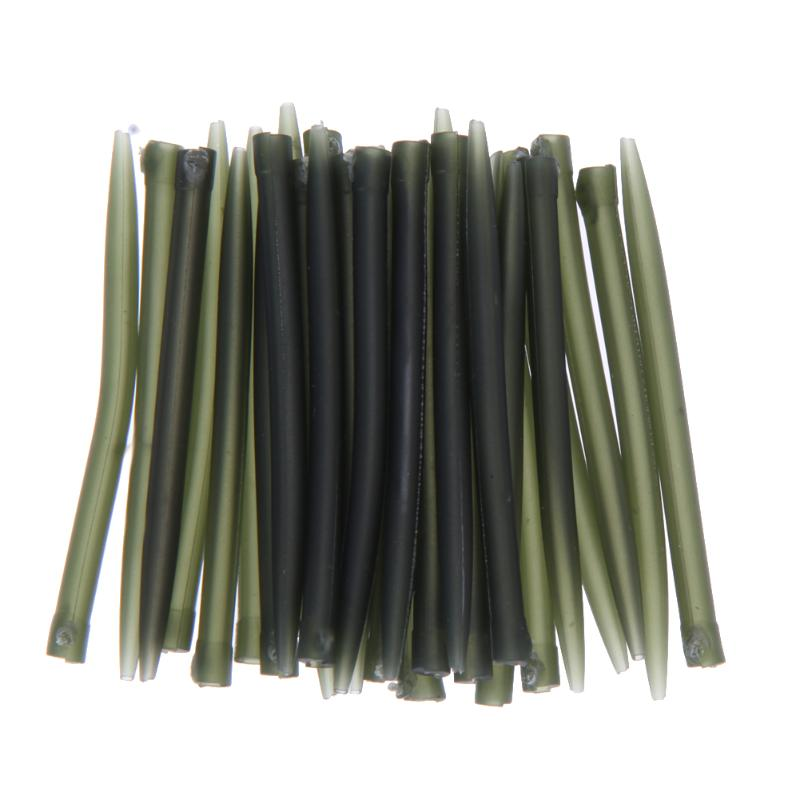 30pcs Terminal Dark Matter Anti Tangle Sleeves Connect With Fishing Hooks Carp Large Bore Prevents Rigs Fishing Tackles Pesca
