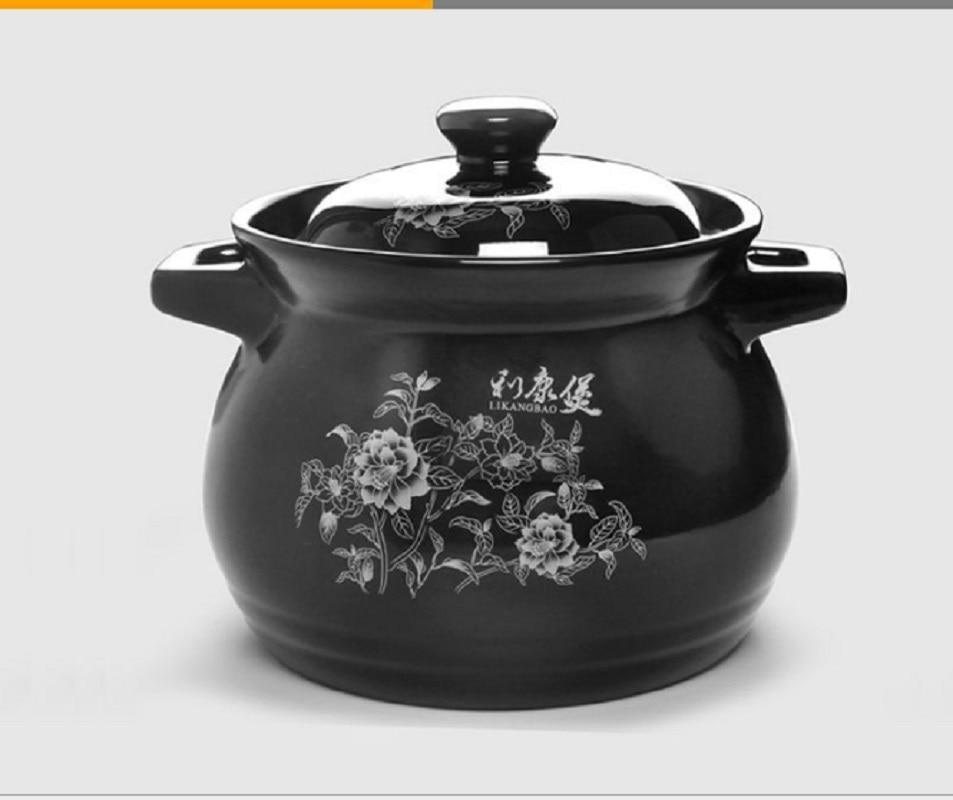 Ceramic casserole soup pot stew of  high temperature resistant health household fire pot casserole