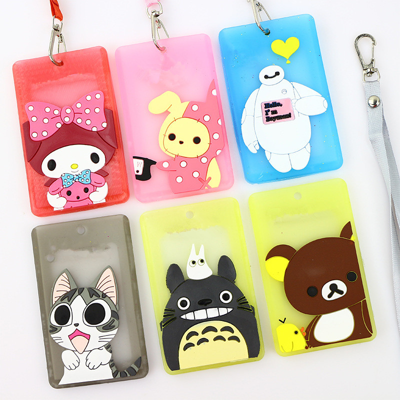 HNXZXB Card-Package Elementary Silicone School Cartoon Pass.-1 Hot Cute And Bus Girls