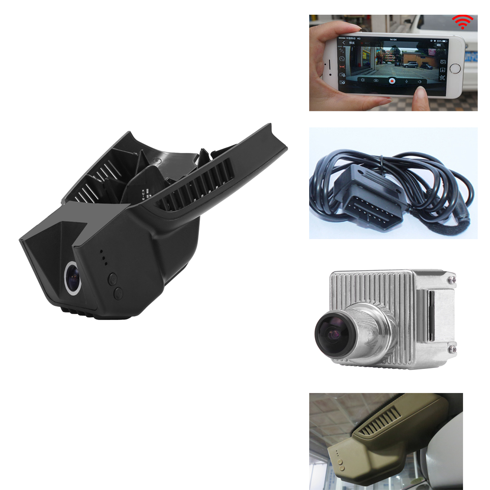 PLUSOBD For Mercedes Benz C E W204 W212 Special DVR OEM Style Hidden Design Full HD 1080P Car Camera With WIFI Android IOS App plusobd for benz e w212 2008 12 surveillance camera oem novatek 96655 car camera video recorder fhd hd dashcam best camera