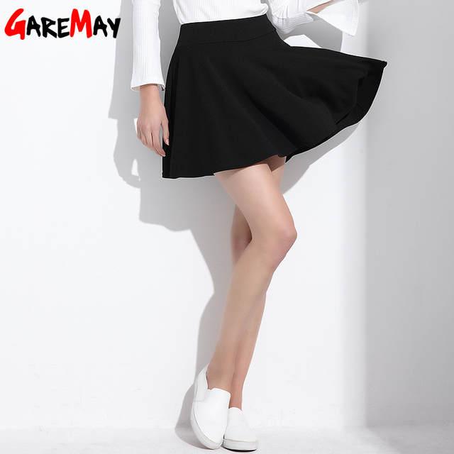 Falda corta para mujer 2018 All Fit tutú falda de escuela Color blanco para mujer  ropa 238c04110a15