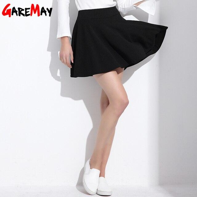 Short Skirt  for Women 2018 All Fit Tutu School Skirt  White  Back Color Women Clothing Short Skirts Faldas Ball Gown