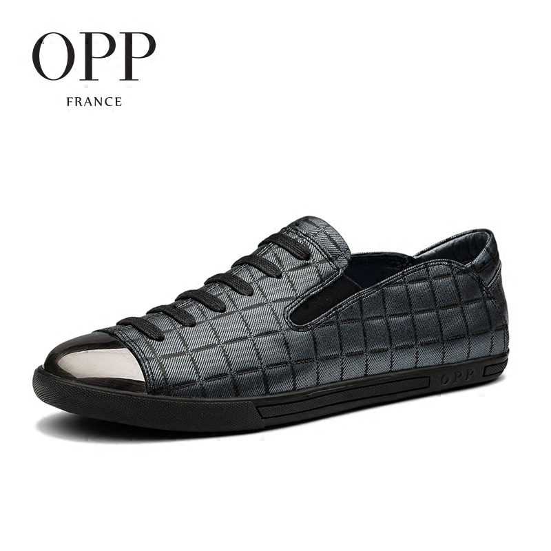 OPP 2017 Cow Leather Loafers Men footwears Summer Mens Zapatos hombres For Men Cow Leather Flats Shoes Casual Lace-Up Shoes