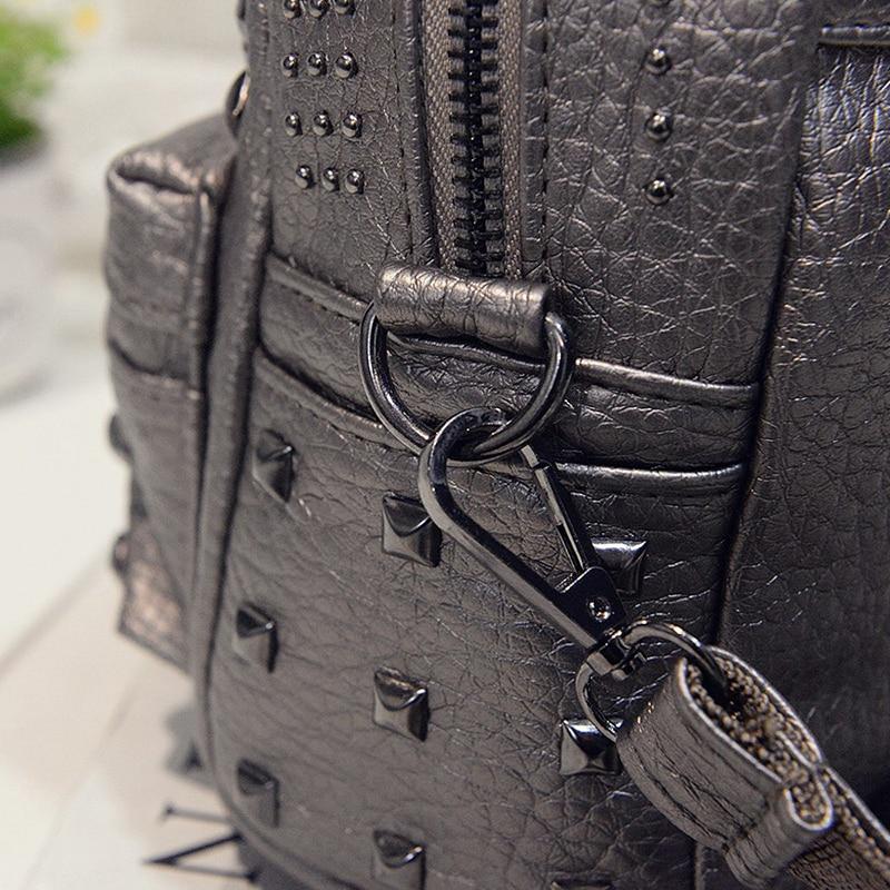 ... Women s Mini Teen Backpacks Fascinating Leather PU Bags Casual Classic  Fashion Travel Bag Rivet Backpack Korean ... a164c0a2a663f