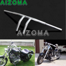 "Guidão da motocicleta 8 ""Rise T Bares 1-1/4"" Fat Bar Cromo Personalizado Handle Bar Para Harley Cafe piloto Sportster Chopper Touring"