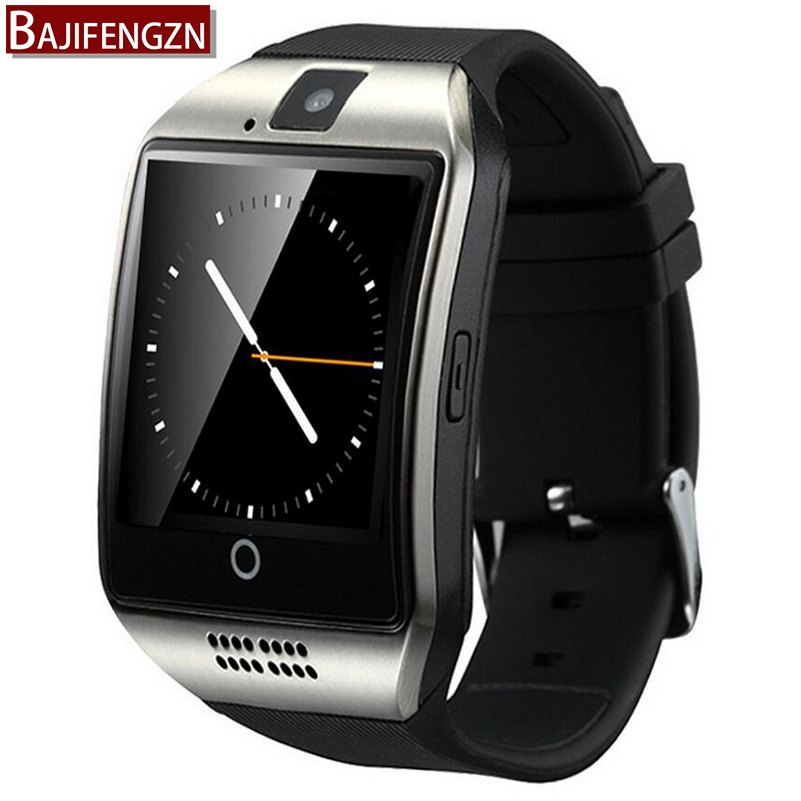 imágenes para 2017 moda elegante reloj q18, Smartwatch, apoyo TF tarjeta SIM, cámara MP3 Bluetooth reloj inteligente, GSM teléfono de xiaomi Huawei