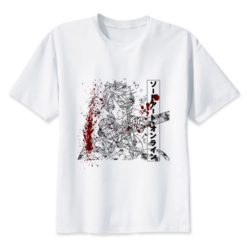 sword art online t shirt Men Print T-Shirts Fashion Print T-Shirts Short Sleeve O Neck Tees mmr2259
