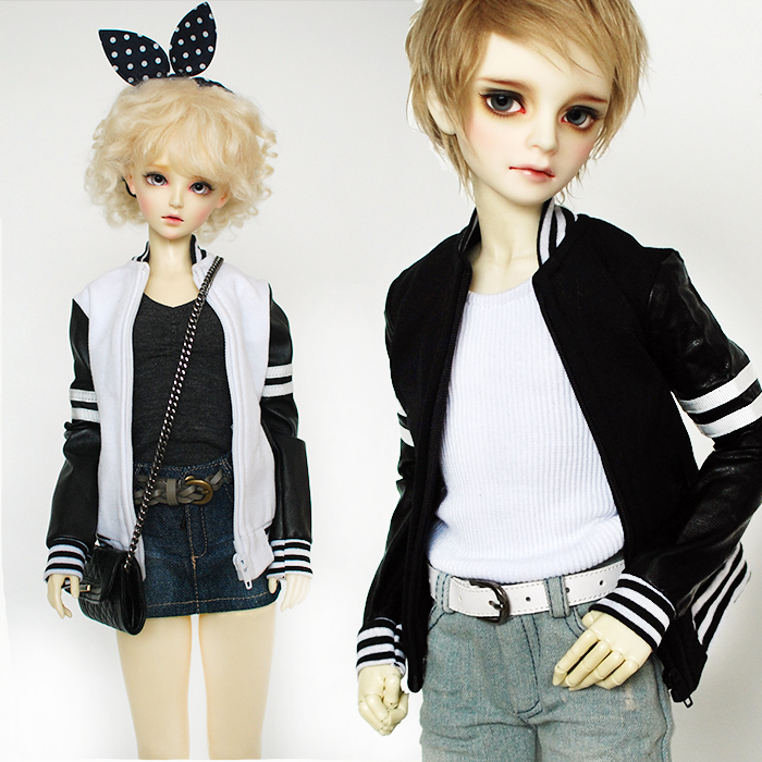 Baseball Jacket Coat 2colors for BJD Doll 1/4 MSD,1/3 SD10/SD13 SD17,Uncle SD,Luts, DOD,AS,DZ Doll Clothes CMB73 кукла bjd luts 1 4 bjd sd kid delf bory
