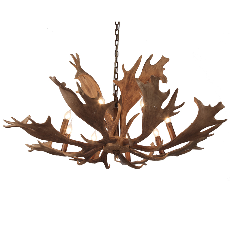 FUMAT Antler Chandelier Living Room Villa Suspension Light Cafe Bar Lamp Creative Vintage Wood Chandelier For Living Room Lights fumat clear glass pendant light with hemp rope vintage cafe bar suspension light fixture nordic living room dinning room lamp