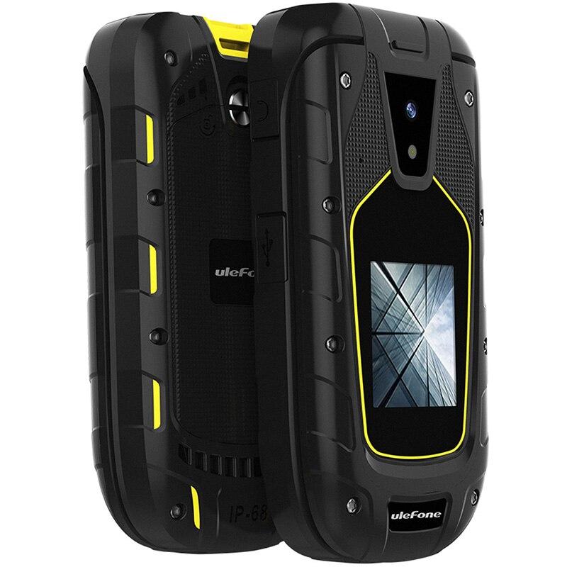 Ulefone Armor Flip 2G téléphone 2.4 pouces + 1.44 pouces MTK6261A 32 mo RAM 64 mo ROM 1.3MP caméra arrière 1200mAh batterie téléphones portables