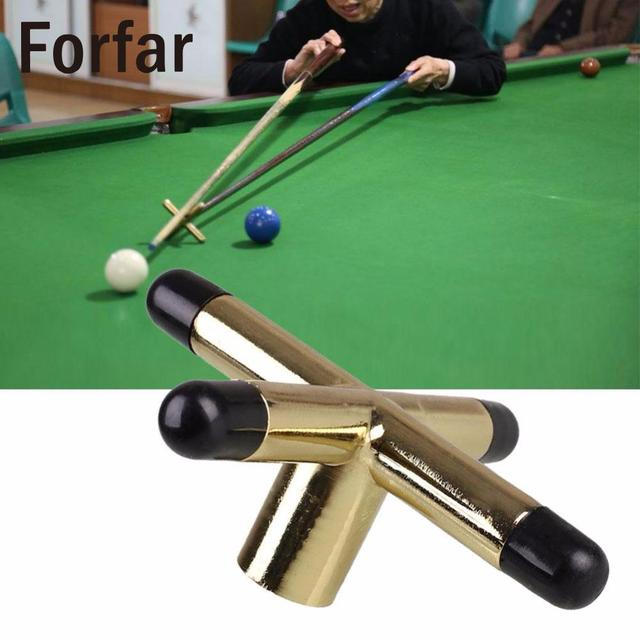 Forfar Game Snooker Cross Rest Tool Metal Head Screw Snooke Table Brackets Cue  Holder Pool Brass